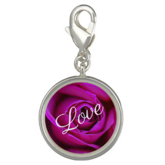 Pingente Encanto cor-de-rosa do amor
