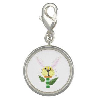 Pingente Encanto da flor do coelho