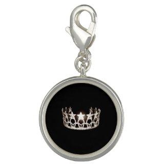 Pingente Encanto de prata do SP da coroa da senhorita EUA