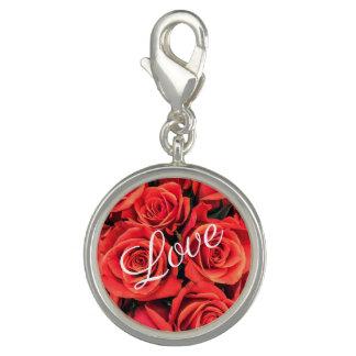 Pingente Encanto do amor dos rosas