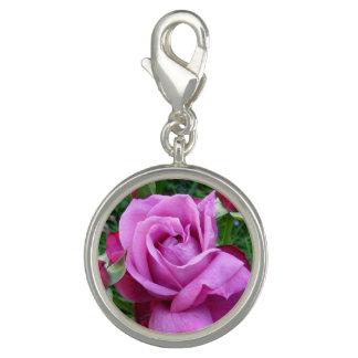 Pingente Encanto do rosa do roxo