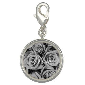 Pingente Encanto monocromático dos rosas da mamã