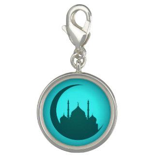 Pingente Encanto redondo da prata do fundo da mesquita
