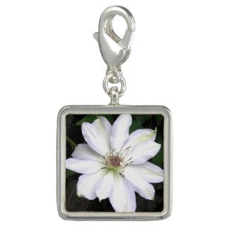 Pingente Flor branca do Clematis