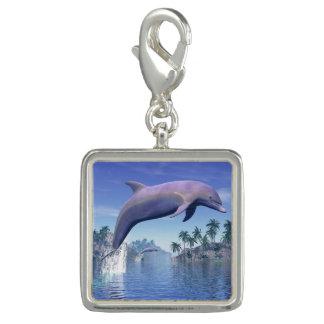 Pingente Golfinho nos trópicos - 3D rendem
