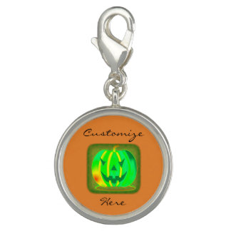 Pingente Jack verde o Dia das Bruxas o'lantern Thunder_Cove