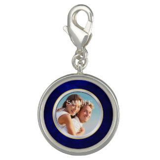 Pingente Modelo azul do casamento da foto do quadro do