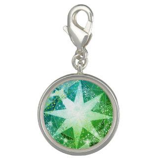 Pingente Olhar verde do cristal de rocha de pedra preciosa