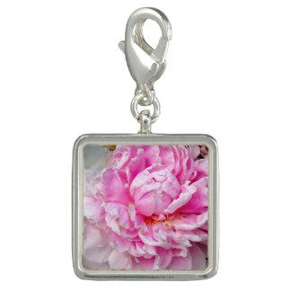 Pingente Peônias cor-de-rosa e brancas