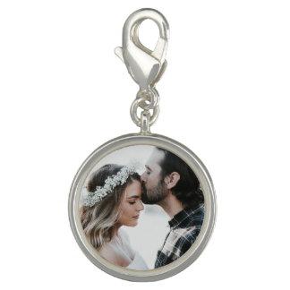 Pingente Prata do encanto da foto do casal personalizado