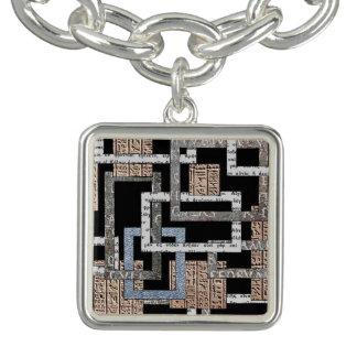 """Pingente quadrado """"Labirinto de quadrados """""""