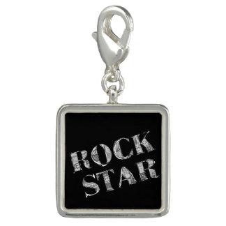 """Pingente quadrado """"Rock Star """""""