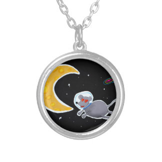Pingente Redondo - Mouse In Space
