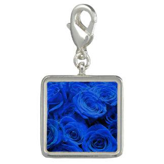 Pingente Rosas azuis