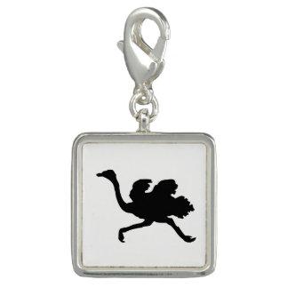 Pingente Silhueta da avestruz