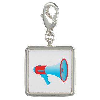 Pingente Vermelho e azul do megafone