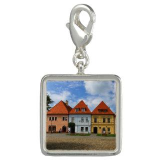 Pingentes Com Foto Casas de cidade velhas em Bardejov, Slovakia