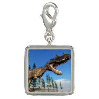 Pingentes Com Foto Dinossauro do Ceratosaurus na linha costeira - 3D
