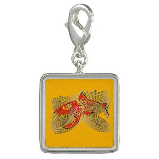 Pingentes Com Foto Encanto com um peixe irritado do design moderno
