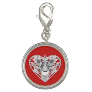 Pingentes Com Foto Encanto (vermelho) do Locket da leoa do amor