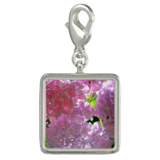 Pingentes Com Foto Hydrangeas cor-de-rosa brilhantes