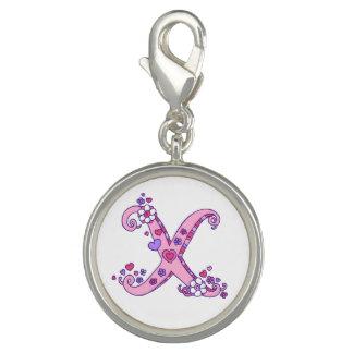Pingentes Com Foto Rotule o coração do monograma de X para florescer