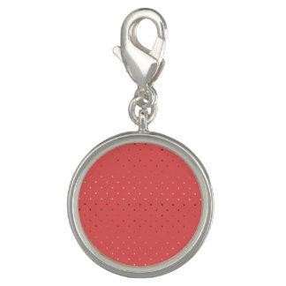 Pingentes Com Foto teste padrão de bolinhas coral do ouro cor-de-rosa