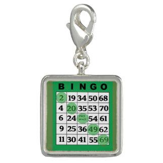 Pingentes Com Fotos Encanto afortunado do cartão verde do BINGO