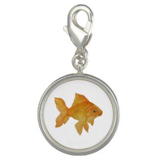 Pingentes Com Fotos Encanto do peixe dourado da aguarela