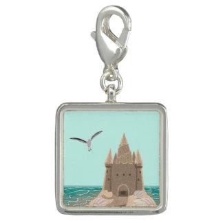 Pingentes Com Fotos Encanto do quadrado da gaivota do Sandcastle