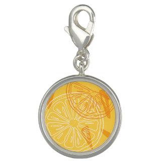 Pingentes Com Fotos Limões amarelos brilhantes teste padrão tirado do