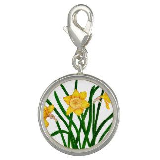 Pingentes Com Fotos O Daffodil floresce trabalhos de arte da pintura