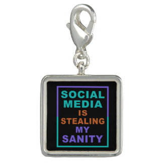 """Pingentes Com Fotos """"Os meios sociais engraçados"""" encantam/braceletes"""