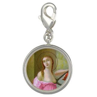 Pingentes Com Fotos St. cor-de-rosa Agatha (M 003)