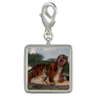 Pingentes Com Fotos Tigre que ruje - 3D rendem