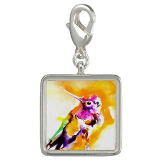 Pingentes Impressão lindo do colibri do Gorget
