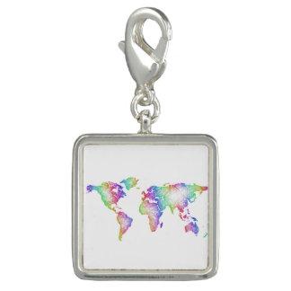 Pingentes Mapa do mundo do arco-íris