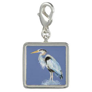 Pingentes Pássaro da garça-real de grande azul da aguarela