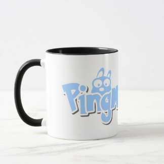 PingMyLinks estilo combinado do logotipo dos Caneca