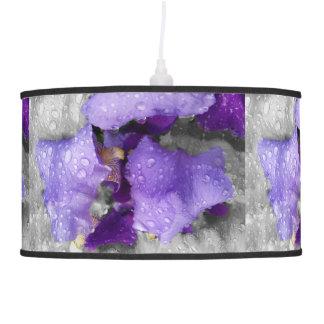 pingos de chuva na íris luminária de teto