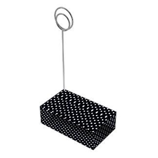 Pingos de chuva preto e branco suporte para cartoes de mesa
