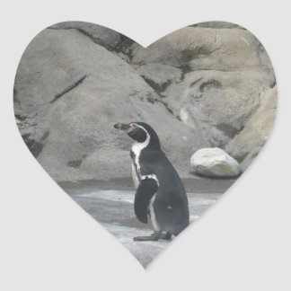 Pinguim Adesivo Coração