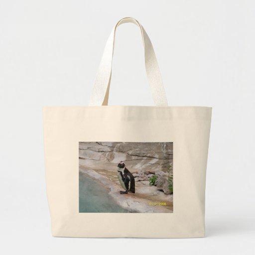Pinguim adorável bolsa de lona