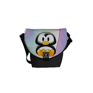 Pinguim adorável bolsas mensageiro