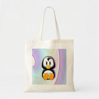 Pinguim adorável dos desenhos animados bolsas para compras