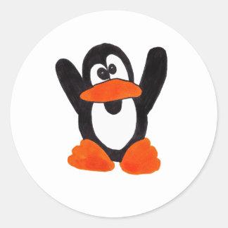 Pinguim Adesivos Redondos
