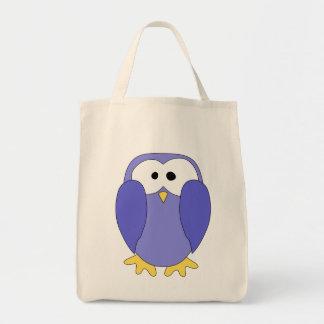 Pinguim azul bonito Desenhos animados do pinguim Bolsa Para Compra