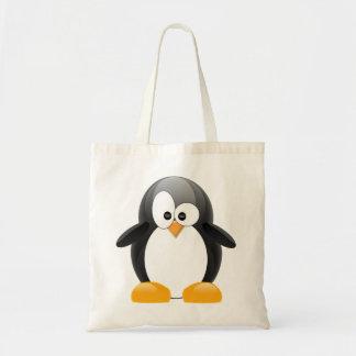 Pinguim bonito bolsa tote