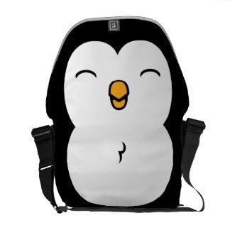 Pinguim bonito bolsas mensageiro
