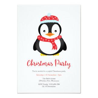 Pinguim bonito do convite | da festa de Natal
